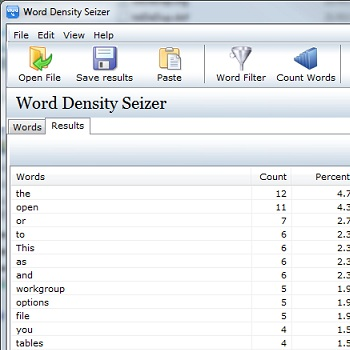 Word Density Seizer